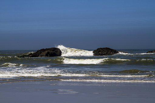 Water, Sea, Ocean, Beach, Seashore, Wave, Landscape