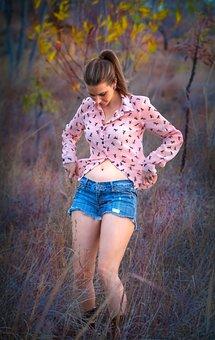 Girl, Model, Nature, Beautiful, Woman, Outdoors