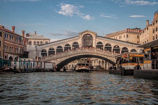 Venice, Italy, Ponte Di Rialto Bridge, Bridge, Old Town