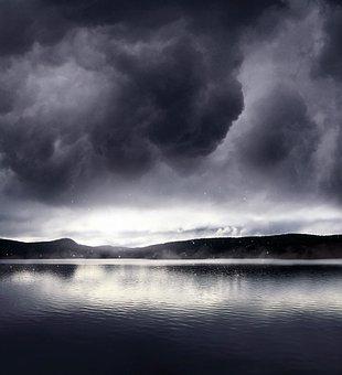 Storm, Water, Landscape, Rain, Dramatic, Lake, Nature