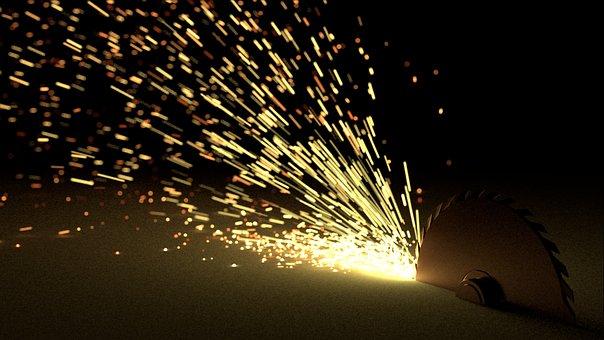 Render, Sparks, Blender3d