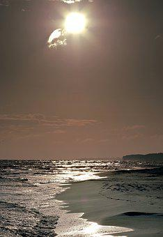 Heat, Brown, Sunset, Beach, Sea, The Sun, Ocean