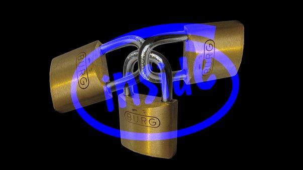 Intel, Padlock, Matrix, Binary, Security, Code