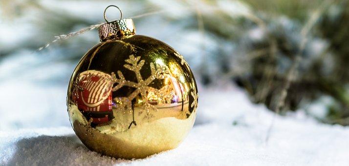 Winter, Christmas, Ball, Celebration, Ornament, Shiny