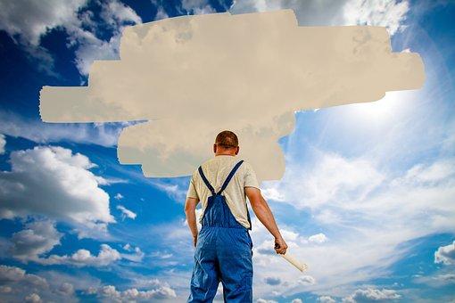 House Painter, Balloon, Label, Paint, Sky, Nature