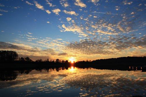 Nature, Sunset, Waters, Panorama, Sky, Dusk, Evening