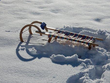 Winter, Snow, Vehicle, Slide, Toboggan, Snowy