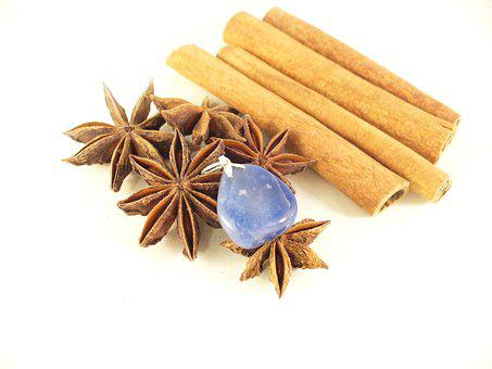 Cinnamon, Spice, Anise, Szodalit, Semi-precious Stones