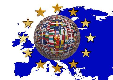 Europe, Flag, Star, Blue, European, Development