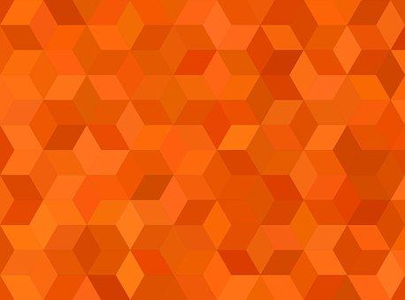 Tile, Orange, Pattern, Background, Mosaic, Cube