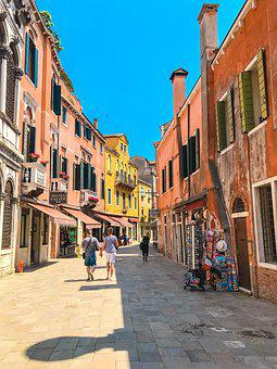 Street, City, Town, Architecture, Tourism, Venetian
