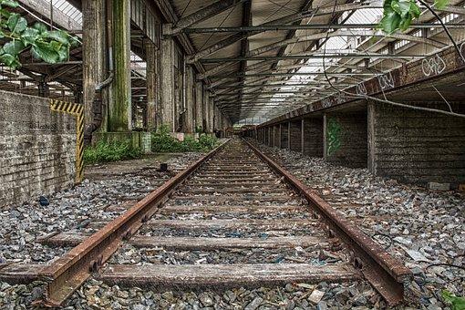 Railway Line, Train, Railway, Leave