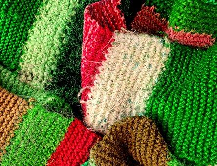 Wool, Knitted, Scarf, Woolen Scarf, Warm, Clothing