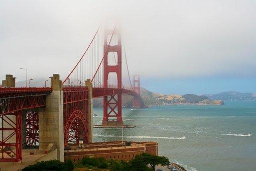 Water, Sea, Travel, Sky, Bridge, Golden Gate Bridge