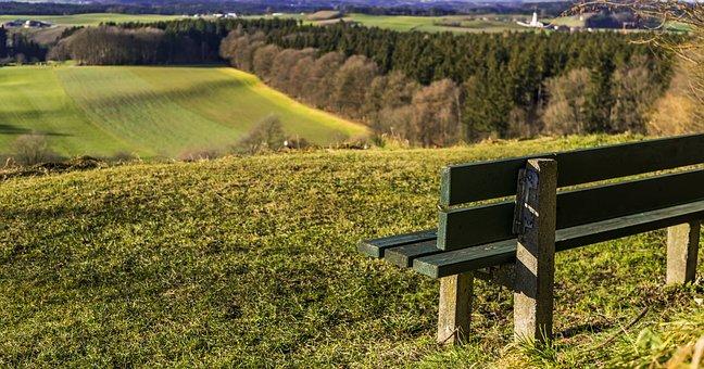 Landscape, Bavaria, Bank, Rural, View, Beautiful, Green