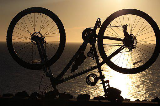 Wheel, Spoke, Bike, Tire, Sunset, Cycle, Biking