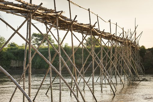 Asia, South East Asia, Background, Tre, Bridge, Build