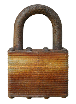 Close, Padlock, Security, Confidentiality, Rusty, Old