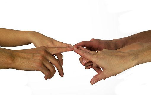 Hands, Finger, Contact, Community, Together, Family