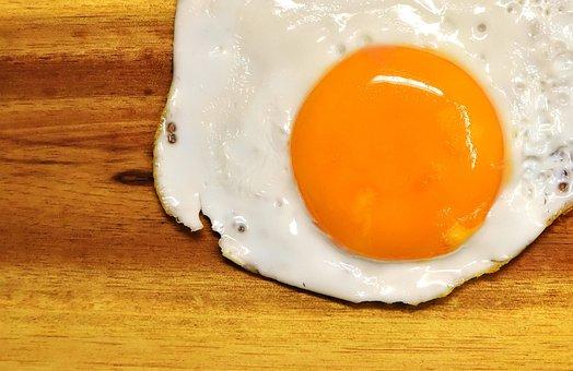 Fried, Egg Yolk, Protein, Eat, Food, Delicious, Yolk