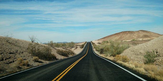 Road, Travel, Highway, Jaunt, Sky, Desert Road