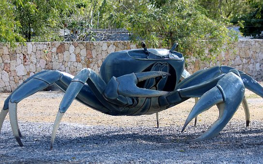 Crab, Sculpture, Iron, Pincers