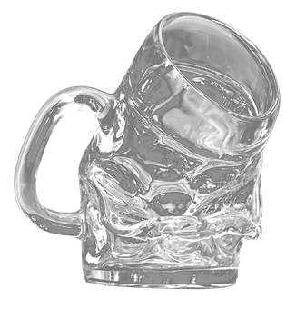 Beer Glass, Askew, Isolated, Transparent, Drink, Liquid