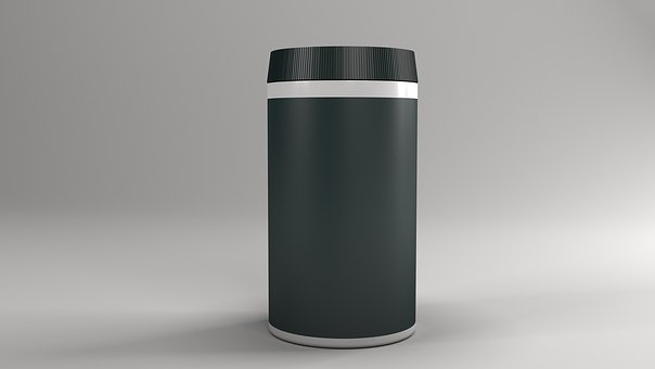 Container, Empty, Plastic, Isolated, Lid, Aluminum