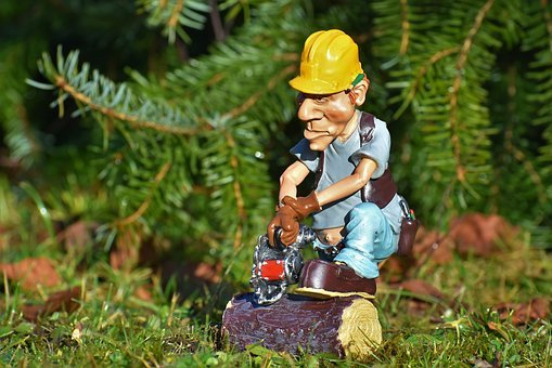 Lumberjack, Forest Workers, Chainsaw, Tree, Log, Figure