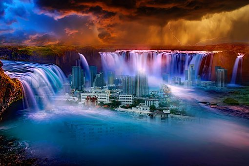 Water, Travel, Dusk, Evening, Panoramic, River, Nature