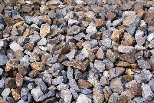 Texture, Bahnschotter, Stones, Basalt, Railway