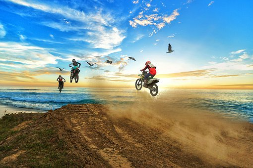 Sky, Motocross, Sport, Nature, Summer, Travel