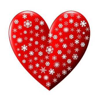 Heart, Snowflakes, Christmas, Valentine, Celebrate