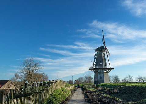 The Dome Of The Sky, Wind Mill, No Person, Outdoor