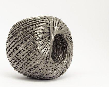 Thread, Strand, Cord, Twine, String, Grey