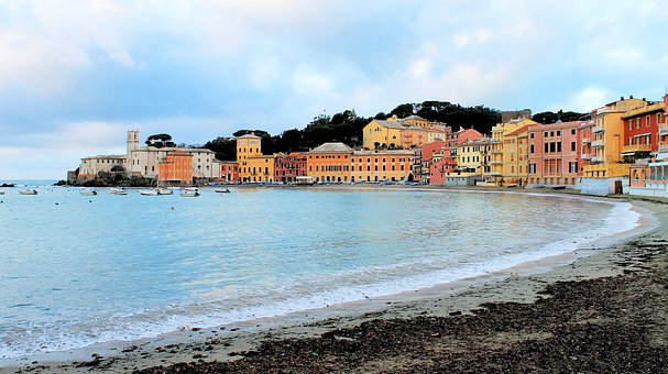 Sestri Levante, Sea, Costa, Houses, Bay