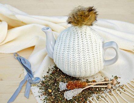 Tee, Teapot, Drink, Pot, Ceramic, Knit Hood, Cap