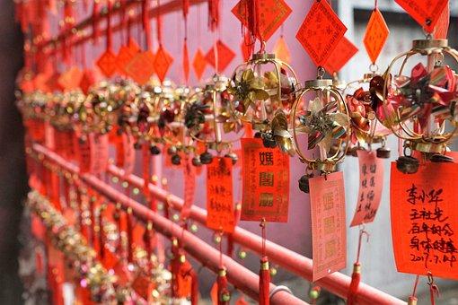 Celebration, Ornament, Hang, Monastery, China, Victims