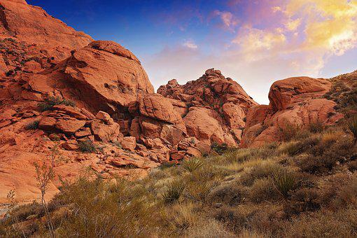 Sunset, Sun, Clouds, Hiking, Landscape, Rock, Natural