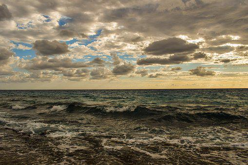 Seascape, Sea, Waves, Sky, Clouds, Nature, Beach