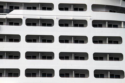 Pattern, Windows, Cruise Ship, Structure