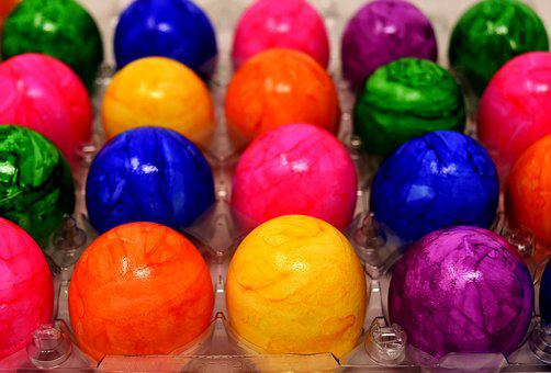 Bread Eggs, Easter Eggs, Colored, Colorful, Egg, Easter