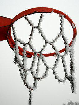 Winter, Frost, Basketball, Snow