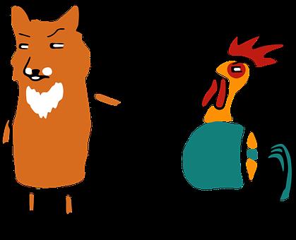 Bird, Cock, Vector, Chicken, Cute, Illustration, Funny