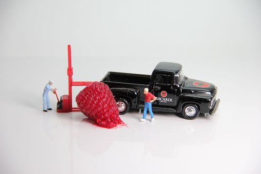 Loading, Raspberry Miniature Figures, Truck, Forklift