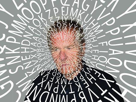 Alzheimer's, Dementia, Person, Man, Words