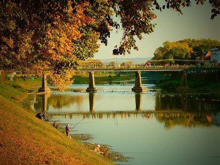 River, Reflection, Nature, Travel, Bridge, Outdoors