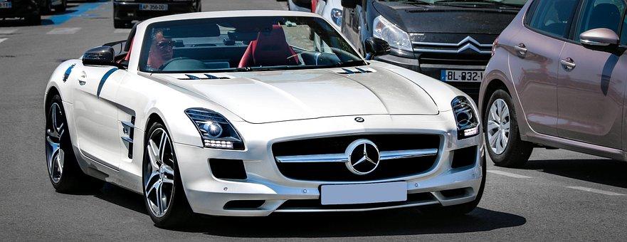 Mercedes Benz Sls, Roadster, Car, Public Show, Style