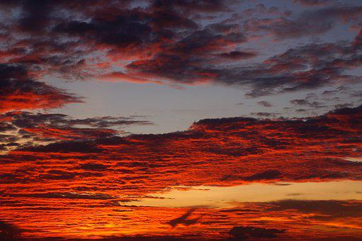 Sky, The Afternoon, Sunset, Scenery, Natural