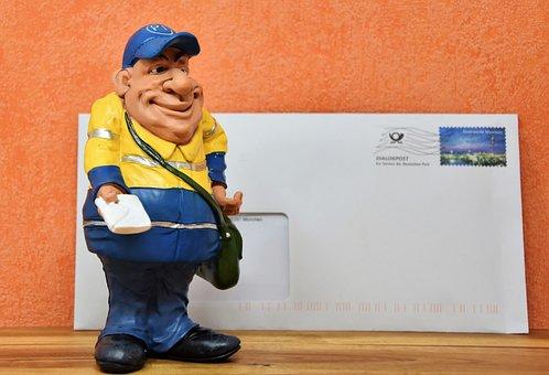 Postman, Figure, Deco, Decoration, Letters, Post, Send